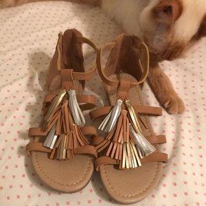 NWOT FabKids Girls Size 1 Sandals